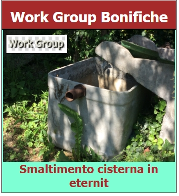 Smaltimento cisterna in eternit